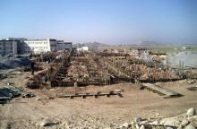 Construction of three parts of Art college \ university of Duhok